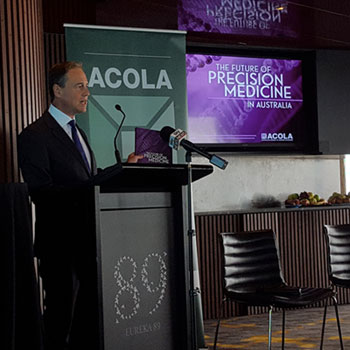 Hon Greg Hunt MP launching Precision Medicine report