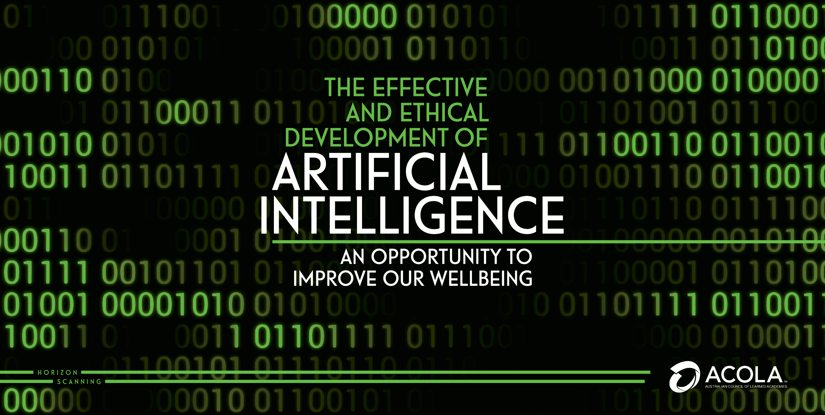 ACOLA Horizon Scanning: Artificial Intelligence report cover